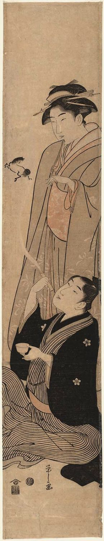 細田栄之: Parody of the Taoist Immortal Zhang Guolang (Chôkarô) - ボストン美術館