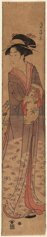 鳥高斎栄昌: Woman with Glass Bulb of Goldfish - ボストン美術館