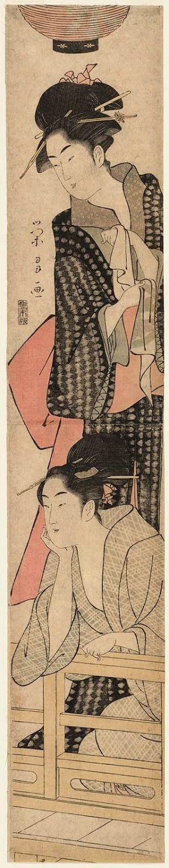 Chokosai Eisho: Two Women on a Balcony - Museum of Fine Arts