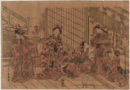 石川豊信: A Modern Version of the Story of Ushiwakamaru and Jôruri-hime - ボストン美術館