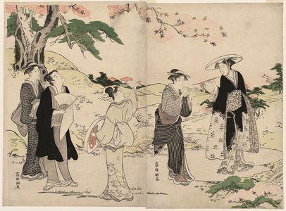 窪俊満: Viewing Cherry Blossoms - ボストン美術館