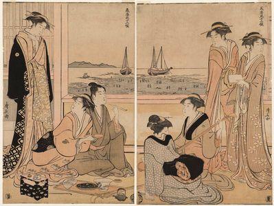鳥居清長: The Fourth Month, from the series Twelve Months in the South (Minami jûni kô) - ボストン美術館