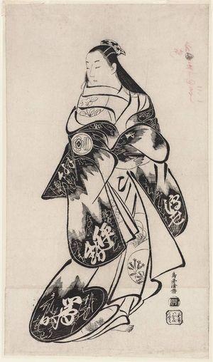鳥居清倍: Actor Matsumoto Jûkan - ボストン美術館