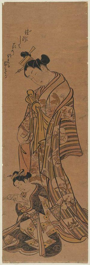 Okumura Masanobu: Courtesan and Kamuro - Museum of Fine Arts
