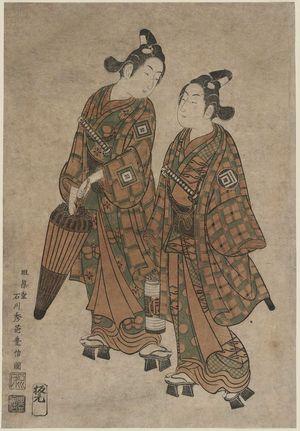 Ishikawa Toyonobu: Actors Sanogawa Ichimatsu and Ichikawa Yaozô - Museum of Fine Arts