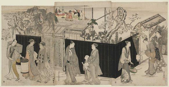 窪俊満: A Poetry Gathering at Night - ボストン美術館