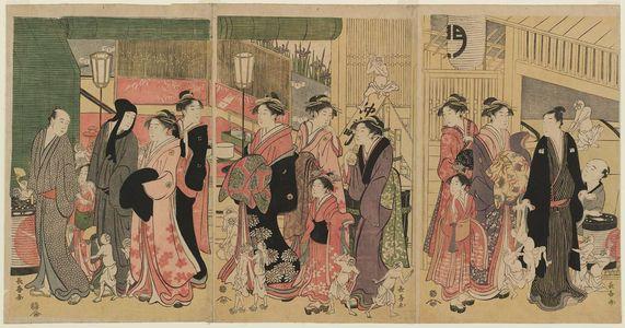 長喜: Good and Evil Influences in the Yoshiwara - ボストン美術館