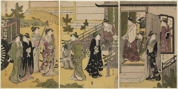 細田栄之: Fuji no uraba, from the series Genji in Fashionable Modern Guise (Fûryû yatsushi Genji) - ボストン美術館