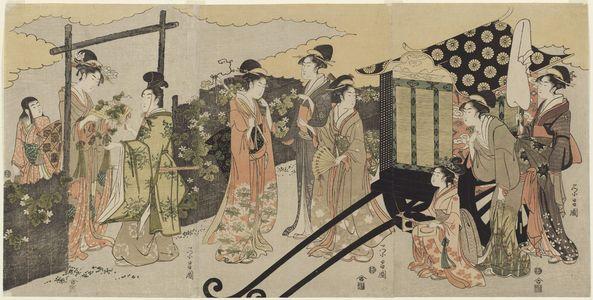 鳥高斎栄昌: Modern Version of the Yûgao Chapter of the Tale of Genji - ボストン美術館