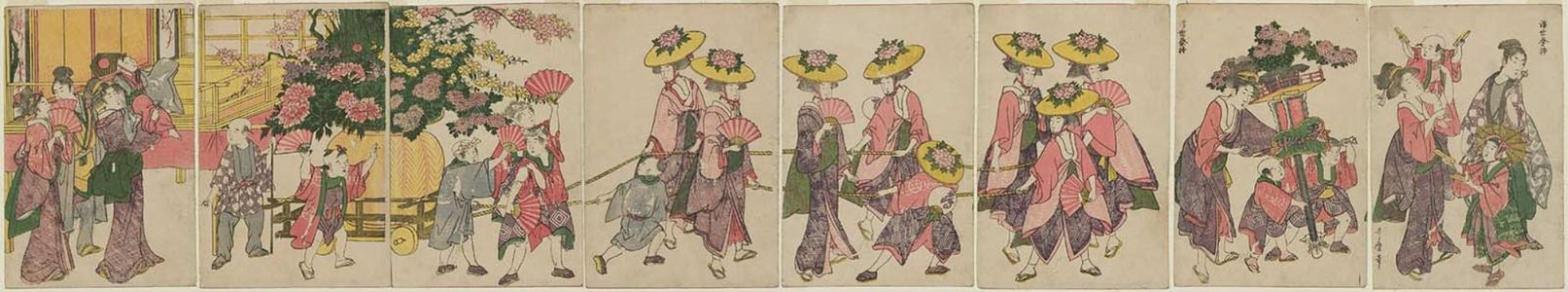 Kitagawa Utamaro: A Floating World Festival (Ukiyo sairei) - Museum of Fine Arts