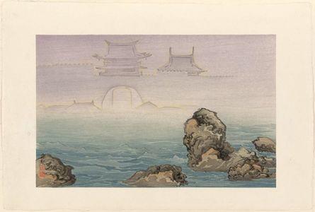小林清親: Mirage at Nanao, Noto, from an untitled posthumous series - ボストン美術館