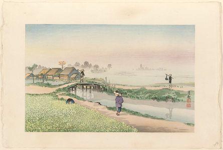 小林清親: Spring Scenery at Sunamura (Sunamura no shunshoku), from an untitled posthumous series - ボストン美術館
