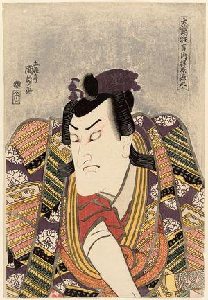 Utagawa Kunisada: Actor Bandô Mitsugorô III as Kajiwara Genta, from the series Great Hit Plays (Ôatari kyôgen no uchi) - Museum of Fine Arts