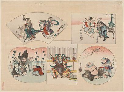 Utagawa Kuniyoshi: The Seven Gods of Good Fortune (Shichifukujin) - Museum of Fine Arts