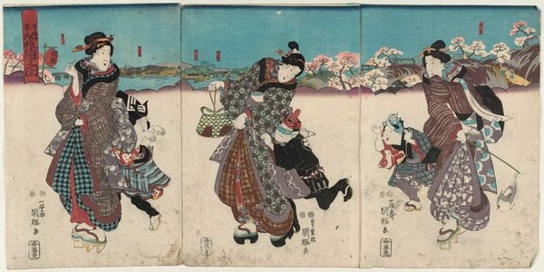 歌川国輝: Visit to a Special Exhibition of Images at Asakusa (Asakusa kaichô môde no zu) - ボストン美術館