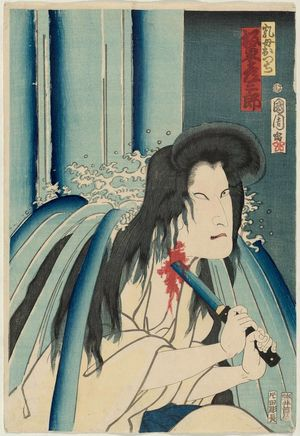 Toyohara Kunichika: Actor Bandô Hikosaburô as the Wetnurse Otsuji - Museum of Fine Arts