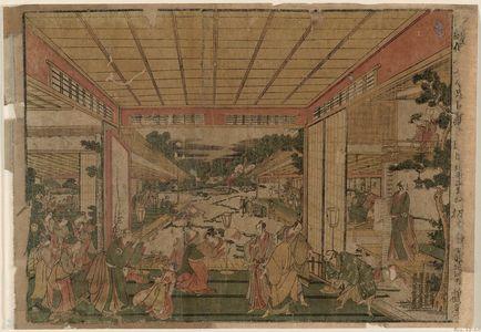 北尾政美: Act VII (Shichidanme), from the series Perspective Pictures of the Storehouse of Loyal Retainers, a Primer (Uki-e Kanadehon Chûshingura) - ボストン美術館