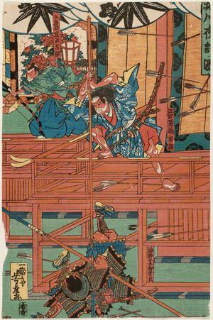 歌川芳虎: The Night Attack at Horikawa (Horikawa youchi no zu) - ボストン美術館