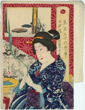 Toyohara Kunichika: from the series Thirty-six Restaurants of Tokyo (Tôkei sanjûroku kaiseki) - Museum of Fine Arts