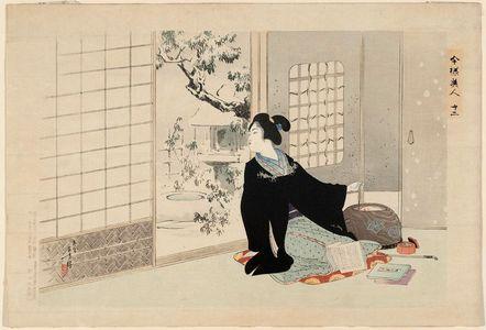 Mizuno Toshikata: Imayo Bijin, 12 (Present-day Beauties, 12) - Museum of Fine Arts