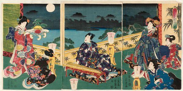 Ochiai Yoshiiku: (Tsuki no en...Suma no koto) - Museum of Fine Arts