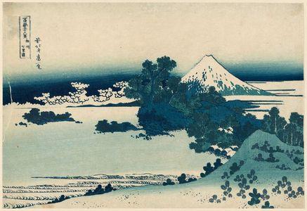葛飾北斎: Seven-Mile Beach in Sagami Province (Sôshû Shichiri-ga-hama), from the series Thirty-six Views of Mount Fuji (Fugaku sanjûrokkei) - ボストン美術館