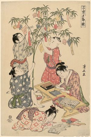 Torii Kiyonaga: The Tanabata Festival, from the series Precious Children's Games of the Five Festivals (Kodakara gosetsu asobi) - Museum of Fine Arts