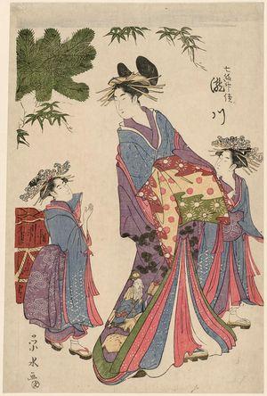一楽亭栄水: Takigawa (representing the god Jurôjin), from the series Seven Lucky Gods (Shichifukujin tsuzuki) - ボストン美術館