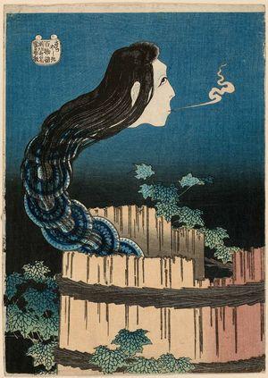 葛飾北斎: The Mansion of the Plates (Sara yashiki), from the series One Hundred Ghost Stories (Hyaku monogatari) - ボストン美術館