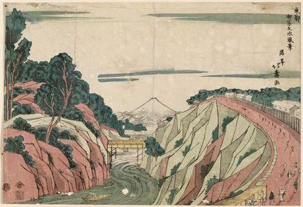 Shotei Hokuju: View of Ochanomizu (Ochanomizu fûkei), from the series The Eastern Capital (Tôto) - Museum of Fine Arts
