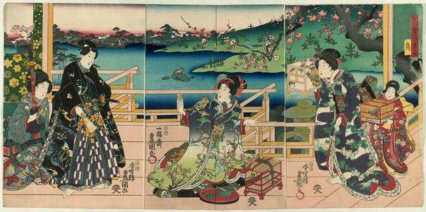 Utagawa Kunisada: Birds (Tori), from the series Flowers and Birds, Wind and Moon (Kachô fûgetsu no uchi) - Museum of Fine Arts
