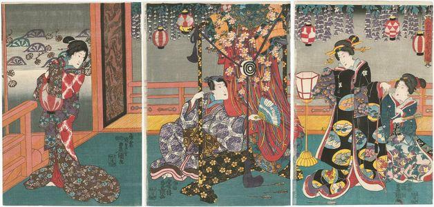 歌川国貞: from the series Fashionablo Amusements of Modern Beauties (Tôsei bijin fûryû asobi) - ボストン美術館