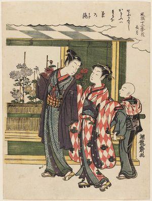 磯田湖龍齋: The Ninth Month (Nagatsuki), from the series Fashionable Flowers of the Twelve Months (Fûryû jûniki hana) - ボストン美術館