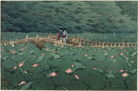 Kawase Hasui: The Pond at Benten Shrine in Shiba (Shiba Benten ike) - Museum of Fine Arts