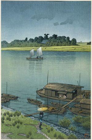 Kawase Hasui: Early Summer Rain, Arakawa (Samidare [Arakawa]) - Museum of Fine Arts