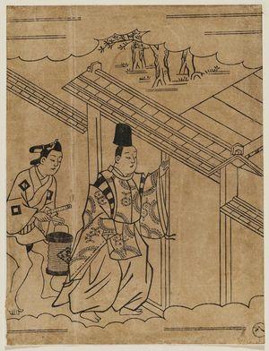 Hishikawa Moronobu: Courtier and attendant - Museum of Fine Arts