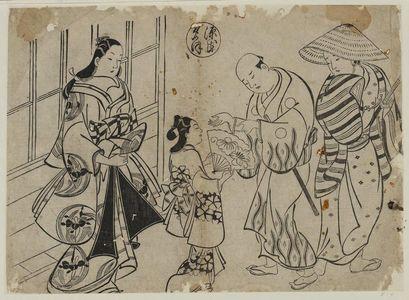 奥村政信: The Yûgao Chapter from The Tale of Genji (Genji Yûgao), from a series of Genji parodies - ボストン美術館