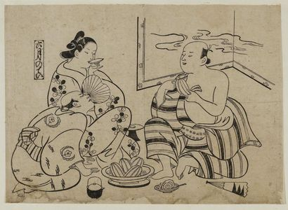 奥村政信: The Sixth Month (Rokugatsu no tei), from an untitled series of Customs of the Pleasure Quarters in the Twelve Months - ボストン美術館