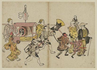 Okumura Masanobu: Festival Procession - Museum of Fine Arts