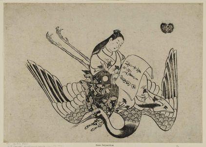 Okumura Masanobu: Courtesan as Fei Zhangfang (Hi Chôbô), from a series of courtesans imitating Taoist immortals - Museum of Fine Arts