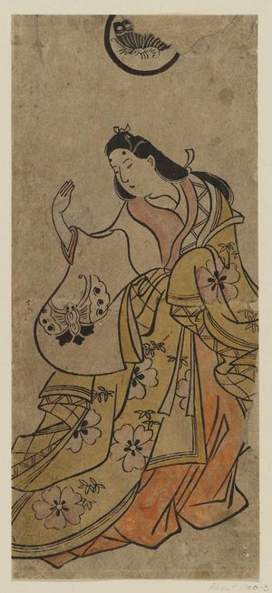 鳥居清信: Actor Hanaoka Miyako - ボストン美術館