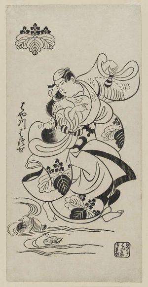 Torii Kiyonobu I: Actor Hayakawa Hatsuse as Ayame no mae - Museum of Fine Arts