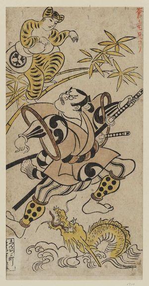 Torii Kiyonobu I: Actors Saruwaka Sanzaemon and Matsumoto Koshirô - Museum of Fine Arts