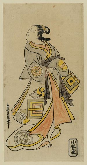 Torii Kiyonobu I: Actor Hamashita Karumo as a Courtesan - Museum of Fine Arts