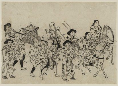 Torii Kiyonobu I: Arrival of a Korean Embassy in Edo - Museum of Fine Arts
