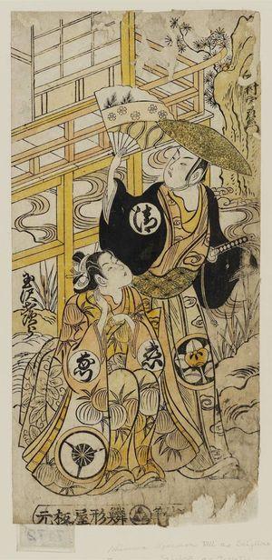 Torii Kiyomasu II: Actors Ichimura Uzaemon VIII as Seijuro and Tamazawa Saijiro as Onatsu - Museum of Fine Arts