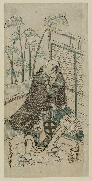 Torii Kiyomasu II: Actor Ôtani Hiroji as Amakawaya Gihei - Museum of Fine Arts