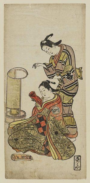 Okumura Masanobu: Actors as Oshichi and Kichiza - Museum of Fine Arts