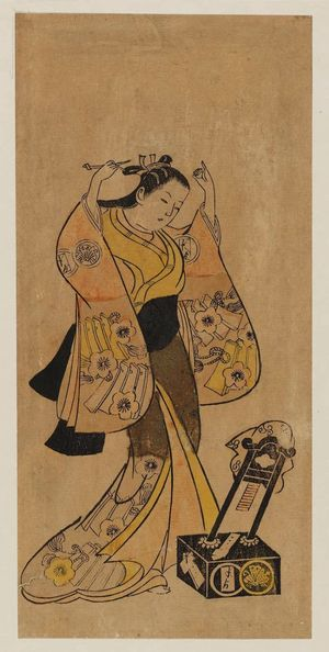 Torii Kiyomasu I: Actor Sanjô Kantarô as Yaoya Oshichi - Museum of Fine Arts