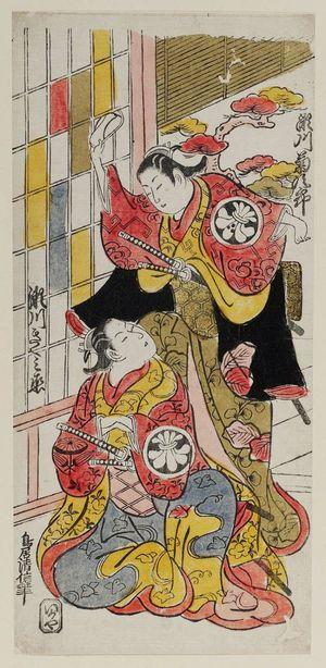 Torii Kiyonobu II: Actors Segawa Kikujirô and Segawa Kikunojô - Museum of Fine Arts